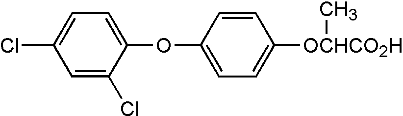 Chemical Structure for Diclofop acid