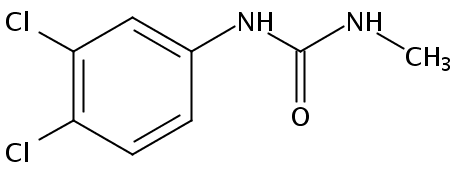 Chemical Structure for 1-(3,4-Dichlorophenyl)-3-methylurea