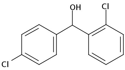 Chemical Structure for 2,4-Dichlorobenzhydrol