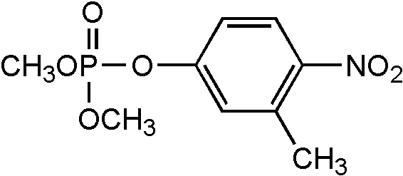 Chemical Structure for Fenitrothion-O-analog Solution