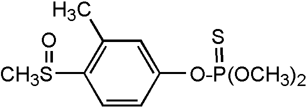 Chemical Structure for Fenthion sulfoxide Solution