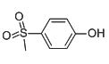 Chemical Structure for 4-Methylsulfonylphenol