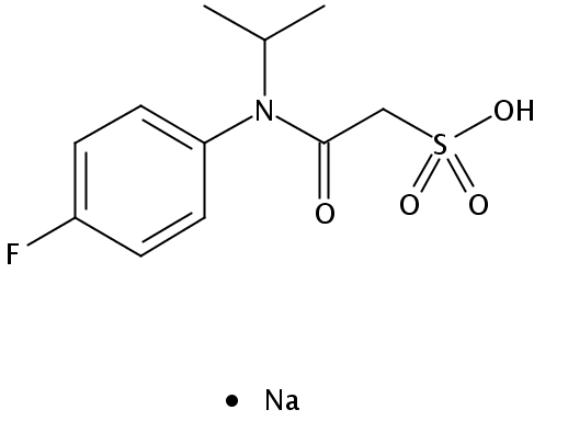 Chemical Structure for Flufenacet ESA sodium salt Solution