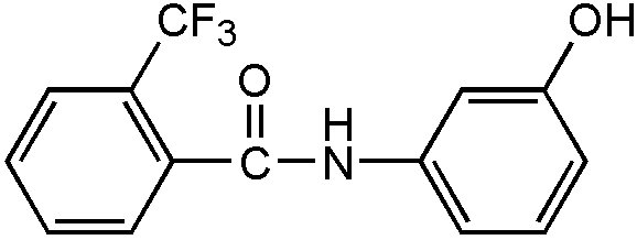 Chemical Structure for alpha,alpha,alpha-Trifluoro-3'-hydroxy-O-toluanilide