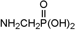 Chemical Structure for Aminomethyl phosphonic acid
