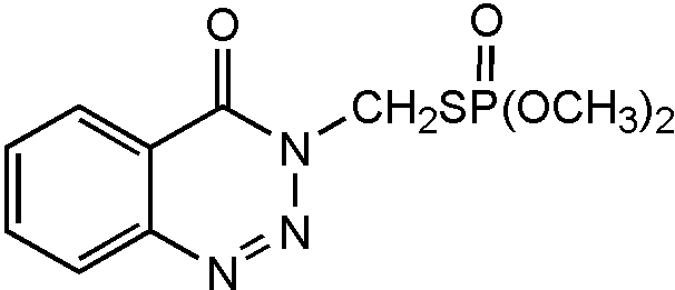 Chemical Structure for Azinphos-methyl oxon Solution