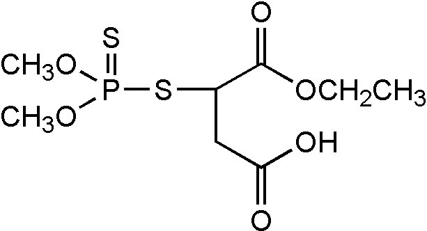 Chemical Structure for Malathion monocarboxylic acid Solution