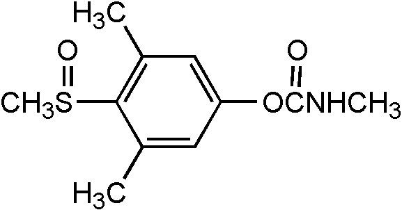 Chemical Structure for Methiocarb sulfoxide Solution