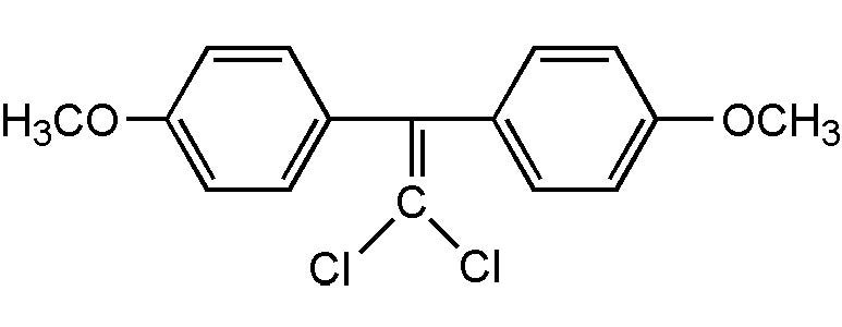 Chemical Structure for p,p'-Methoxychlor-olefin Solution