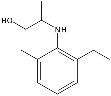 Chemical Structure for 2-[(2-Ethyl-6-methylphenyl)amino]-1-propanol