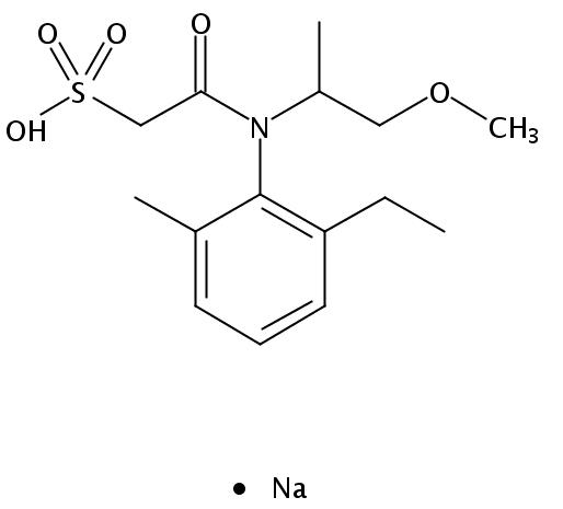 Chemical Structure for Metolachlor ESA sodium salt