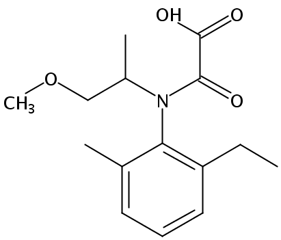 Chemical Structure for Metolachlor OA