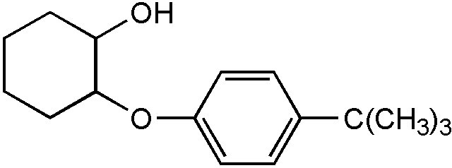 Chemical Structure for 2-(4-tert-Butylphenoxy)cyclohexanol