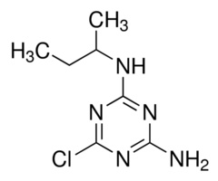 Chemical Structure for Sebuthylazine-desethyl