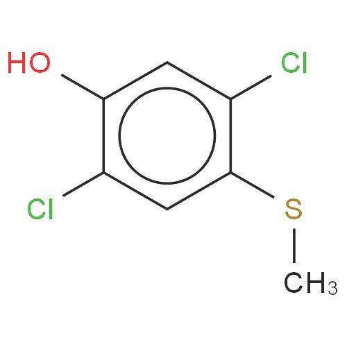 Chemical Structure for 2,5-dichloro-4-(methylthio)-Phenol