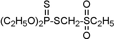 Chemical Structure for Phorate sulfone Solution