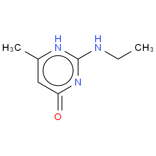 Chemical Structure for 2-Ethylamino-6-methyl-4(3H)-Pyrimidinone