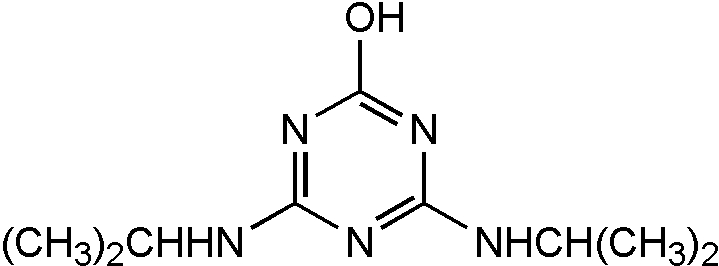 Chemical Structure for Propazine-2-hydroxy Solution