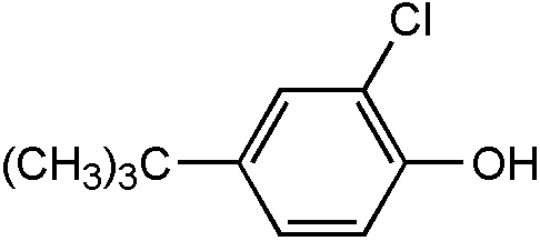 Chemical Structure for 4-tert-Butyl-2-chlorophenol