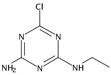 Chemical Structure for Atrazine desisopropyl