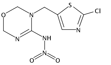 Chemical Structure for N-Desmethylthiamethoxam