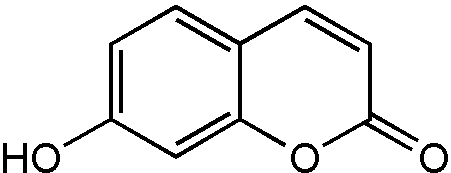 Chemical Structure for 7-Hydroxycoumarin