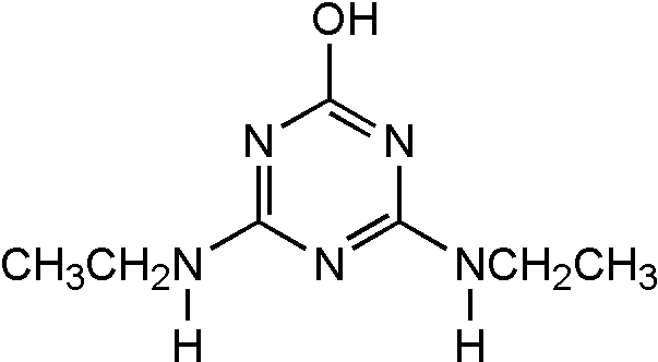 Chemical Structure for Simazine hydroxy