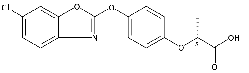 Chemical Structure for Fenoxaprop-P