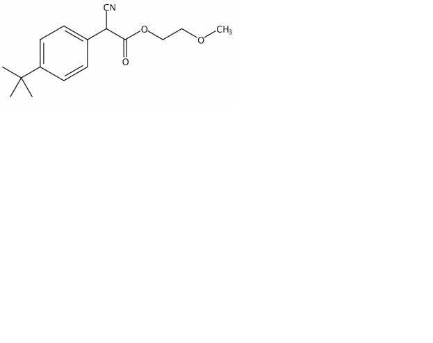 Chemical Structure for 2-Methoxyethyl 2-[4-(tert-butyl)phenyl]cyanoacetate
