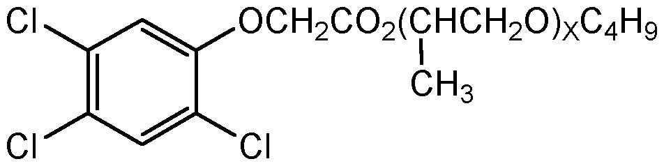 Chemical Structure for 2,4,5-T butoxypolypropylene glycol ester (Technical)