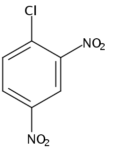 Chemical Structure for 1-Chloro-2,4-dinitrobenzene