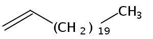 Chemical Structure for 1-Docosene