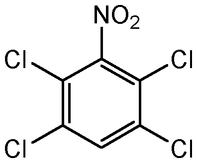 Chemical Structure for 1,2,4,5-Tetrachloro-3-nitrobenzene
