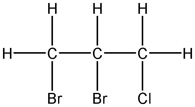 Chemical Structure for 1,2-Dibromo-3-chloropropane