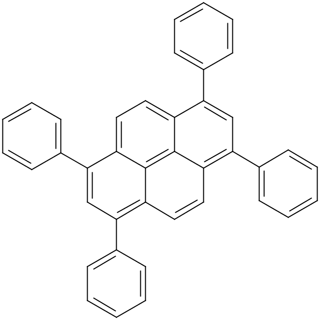 Chemical Structure for 1,3,6,8-Tetraphenylpyrene