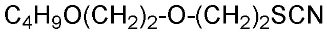 Chemical Structure for 2-[2-Butoxyethoxy]ethyl thiocyanate
