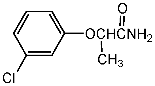 Chemical Structure for 2-[3-Chlorophenoxy]propionamide