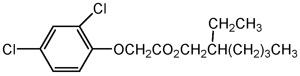 Chemical Structure for 2-Ethylhexyl-2,4-dichlorophenoxy acetate