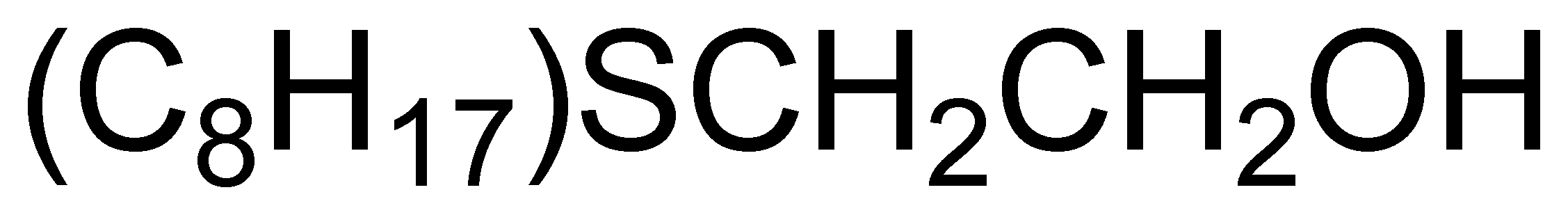 Chemical Structure for 2-Hydroxyethyl-n-octyl sulphide