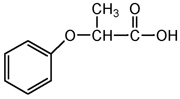 Chemical Structure for 2-Phenoxypropionic acid