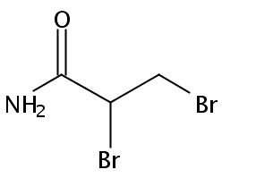 Chemical Structure for 2,3-Dibromopropionamide
