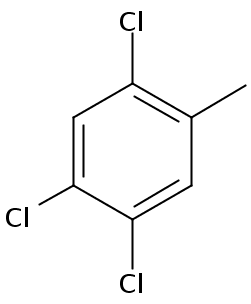 Chemical Structure for 2,4,5-Trichlorotoluene