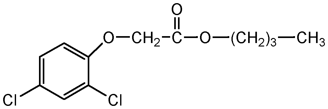 Chemical Structure for 2,4-D butyl ester