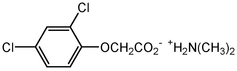 Chemical Structure for 2,4-D dimethylamine salt