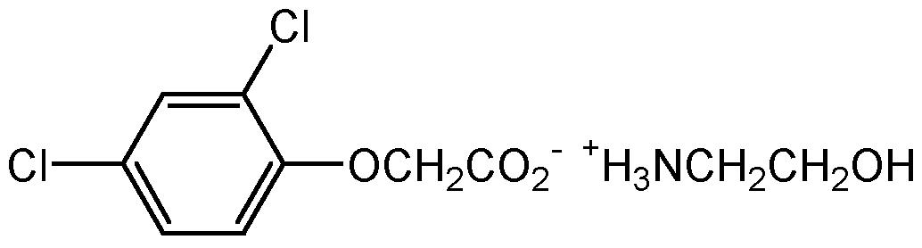 Chemical Structure for 2,4-D ethanolamine salt