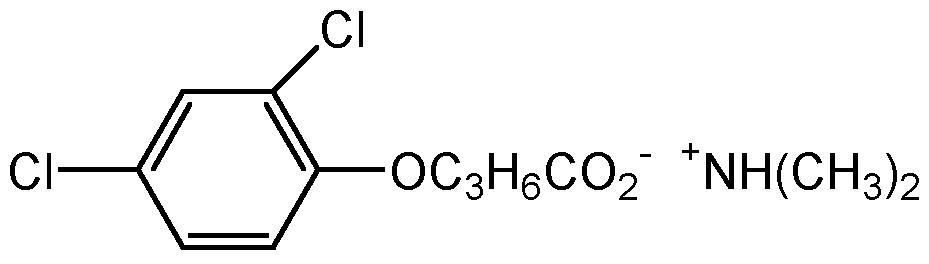 Chemical Structure for 2,4-DB dimethylamine salt