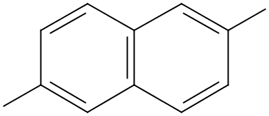 Chemical Structure for 2,6-Dimethylnaphthalene