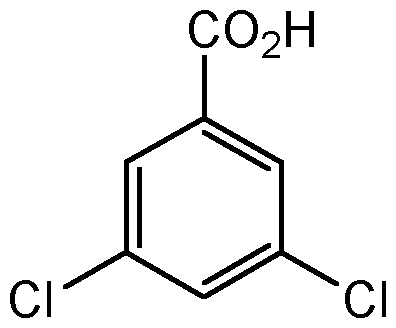 Chemical Structure for 3,5-Dichlorobenzoic acid