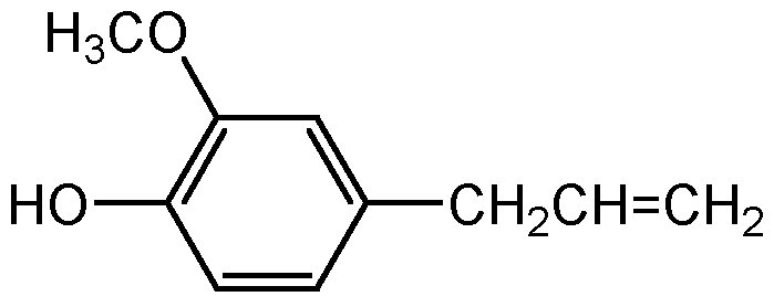 Chemical Structure for 4-Allyl-2-methoxyphenol