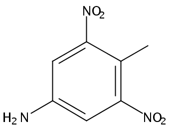 Chemical Structure for 4-Amino-2,6-dinitrotoluene